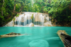 Erawan Waterfall in Kanchanaburi, Thailand Royalty Free Stock Photography