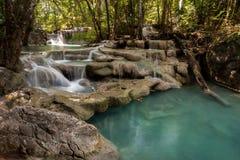 Erawan waterfall. In Kanchanaburi, Thailand Stock Photo