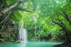 Erawan Waterfall in Kanchanaburi, Thailand Royalty Free Stock Photos