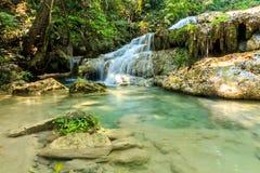 Erawan Waterfall, Kanchanaburi, Thailand Stock Photography