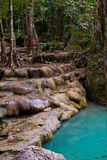 Erawan Waterfall in Kanchanaburi Stock Photo