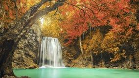 Erawan Waterfall in Kanchanaburi, Thailand Stock Image