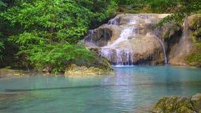 Erawan Waterfall in Kanchanaburi, Thailand royalty free stock images