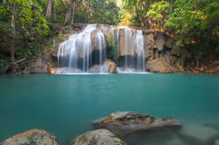 Erawan Waterfall at Kanchanaburi, Thailand Royalty Free Stock Photos