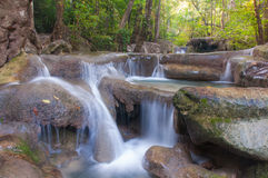 Erawan Waterfall at Kanchanaburi, Thailand Stock Photography
