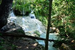 Erawan Waterfall, Kanchanaburi, Thailand Royalty Free Stock Photos