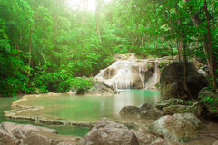 Erawan waterfall. Kanchanaburi. Thailand Stock Photography
