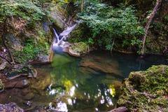 Erawan Waterfall, Kanchanaburi, Thailand. Royalty Free Stock Photos