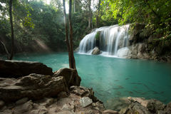 Erawan waterfall in Kanchanaburi, Thailand Stock Images