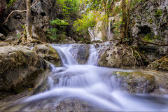 Erawan waterfall, Kanchanaburi, Thailand Royalty Free Stock Images