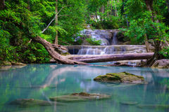 Erawan Waterfall, Kanchanaburi, Thailand Stock Photo
