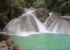 Erawan Waterfall, level 4 Kanchanaburi, Thailand Royalty Free Stock Image