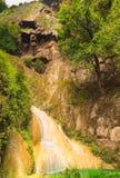 Erawan waterfall level 7. Royalty Free Stock Photography