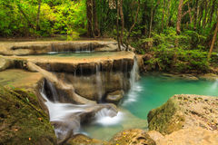 Erawan waterfall level 5. Stock Images