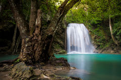 Erawan waterfall Stock Photos