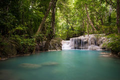 Erawan waterfall Royalty Free Stock Photos
