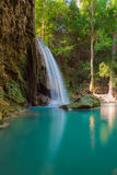 Erawan Waterfall locate in deep forest of Kanchanaburi Nation park, Thailand Royalty Free Stock Photo