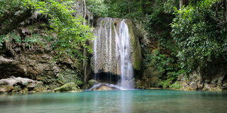 Erawan waterfall. Located in Kanchanaburi,Thailand Stock Photography