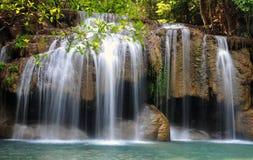 Erawan waterfall National Park stock photography