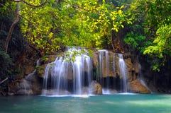 Erawan waterfall National Park royalty free stock image