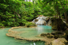 Erawan Waterfall. National Park in Kanchanaburi Province, of Thailand Royalty Free Stock Photography