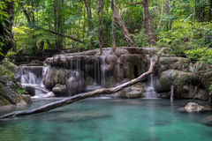 Erawan waterfall Stock Photography