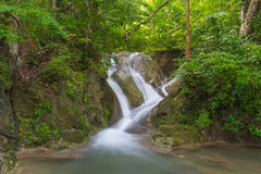 Erawan waterfall. Royalty Free Stock Image