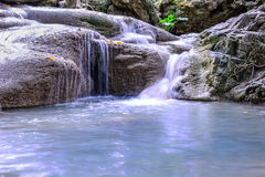 Erawan waterfall in national park, Kanchanaburi, Thailand Royalty Free Stock Photos