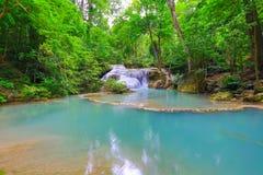Erawan Waterfall Royalty Free Stock Photography