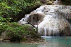 Erawan waterfall National Park Kanjanaburi,Thailand Royalty Free Stock Images