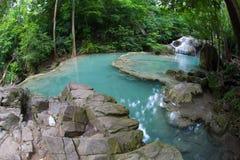 Erawan waterfall National Park Kanjanaburi,Thailand Stock Photo