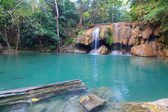 Erawan Waterfall in National Park Royalty Free Stock Photography
