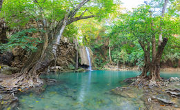 Erawan Waterfall in National Park Stock Photography