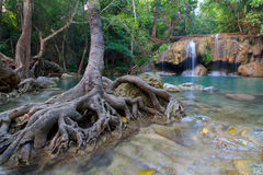 Erawan Waterfall in National Park Stock Photos