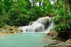 Erawan waterfall. In erawan nationpark kanchanabuyi thailand Royalty Free Stock Photography