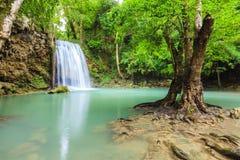 Erawan Waterfall. Scene of Erawan Waterfall at Kanchanaburi ,Thailand Stock Photo