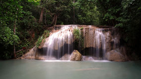 Erawan waterfall scenic Stock Photos