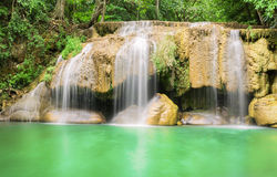 Erawan waterfall. Thailand Royalty Free Stock Photo