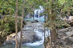 Erawan waterfall in thailand. Beautiful waterfall in Erawan Waterfalls National Park in Thailand royalty free stock images