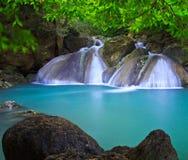 Erawan waterfall in Thailand Stock Image