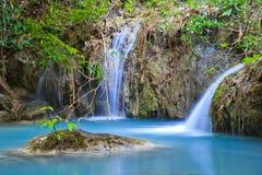 Erawan waterfall in Thailand Royalty Free Stock Image