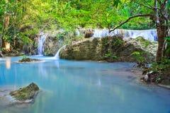 Erawan waterfall in Thailand Royalty Free Stock Photography