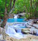 Erawan waterfall, Thailand Royalty Free Stock Images