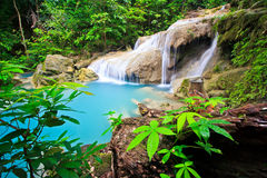 Erawan waterfall in Thailand Royalty Free Stock Images