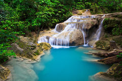 Erawan waterfall in Thailand Royalty Free Stock Photography
