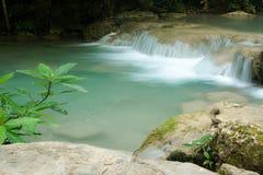 Erawan waterfalls Stock Photography