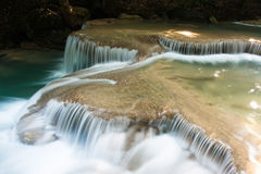 Erawan waterfalls Royalty Free Stock Photo