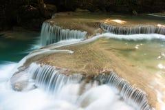 Erawan waterfalls Royalty Free Stock Photo