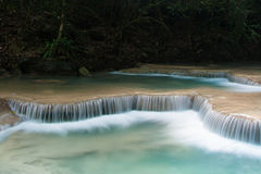 Erawan waterfalls Royalty Free Stock Photos