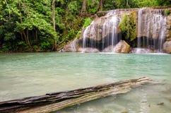 Erawan Waterfalls in Erawan National Park Royalty Free Stock Photo